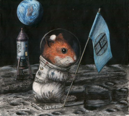 Hampster on the Moon